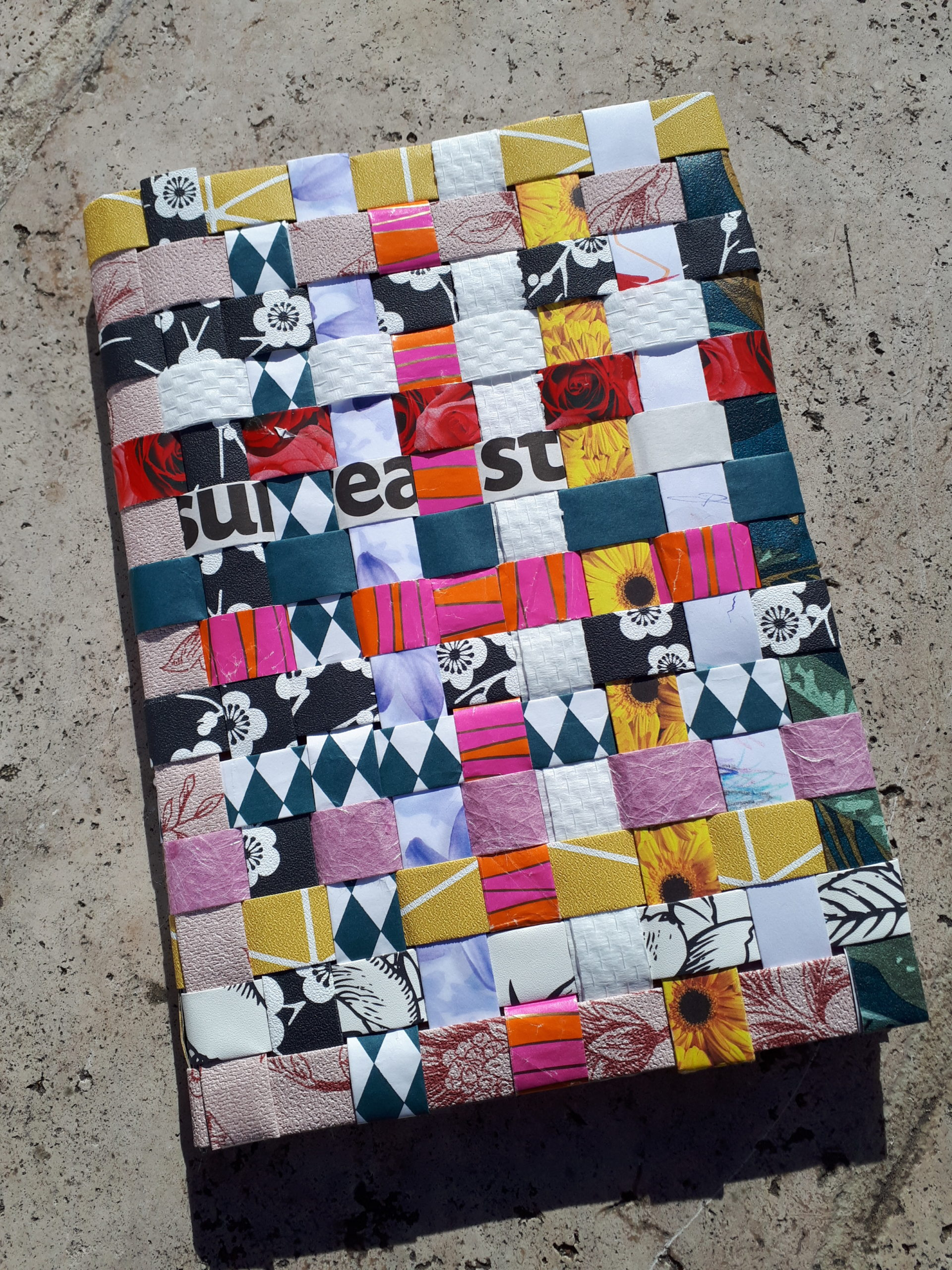 Cahier avec couverture en papier tressé