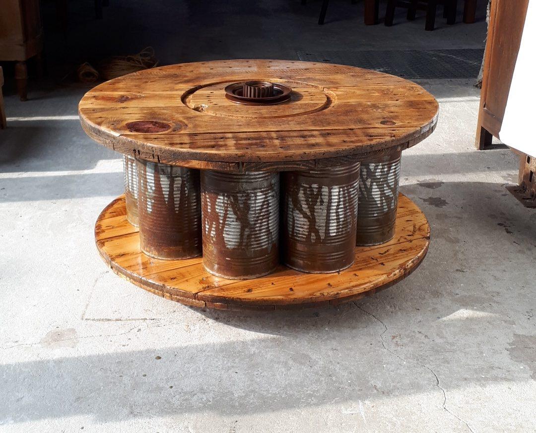 Table basse conserve touret